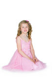 The girl in a pink dress Royalty Free Stock Photos