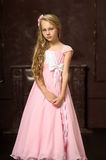 Girl in a pink dress Stock Photos