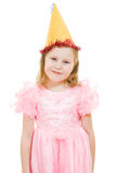 A girl in a pink dress and hat Royalty Free Stock Image