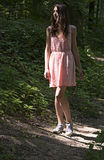 The girl in pink. royalty free stock photography