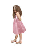 The girl in pink dress Stock Photography