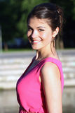 Girl in pink dress Royalty Free Stock Image