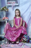 Girl in a pink dress Stock Photo
