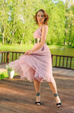 Girl in dress style Marlin Monroe Stock Photography