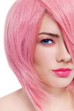 Girl with pink hair Royalty Free Stock Images
