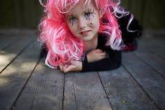 Girl with pink hair Stock Photos