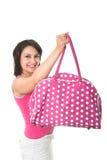 Girl with pink handbag Royalty Free Stock Photography