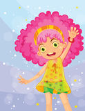 Girl in pink Royalty Free Stock Image