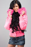 Girl in pink jacket Royalty Free Stock Photo
