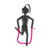 Girl pink jumping rope fitness Royalty Free Stock Photography