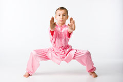 Girl in a pink kimono Royalty Free Stock Photos