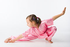Girl in a pink kimono Royalty Free Stock Photo