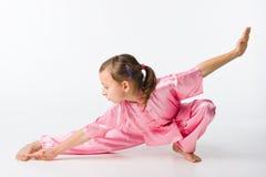 Girl in a pink kimono Royalty Free Stock Photo