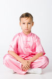 Girl in a pink kimono Stock Image
