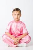 Girl in a pink kimono Stock Image