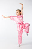 Girl in a pink kimono Royalty Free Stock Photography