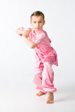Girl in a pink kimono Royalty Free Stock Image