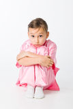 Girl in a pink kimono Royalty Free Stock Images