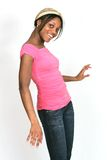 Girl in pink posing series Royalty Free Stock Photos