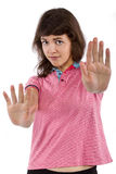 Girl in Pink Shirt Royalty Free Stock Photography
