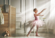 Girl in a pink tutu Royalty Free Stock Image