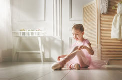 Girl in a pink tutu Stock Images
