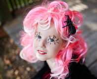 Girl in pink wig Royalty Free Stock Image