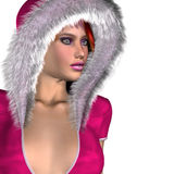Girl in pink winter outfit Stock Photos
