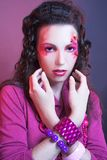 Girl in pink. Royalty Free Stock Image