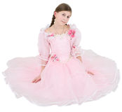 Girl in pinkish dress Stock Photo