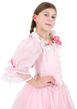 Girl in pinkish dress Royalty Free Stock Photography