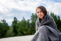 Girl in plaid Stock Photos
