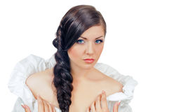 Girl with plait Stock Photography