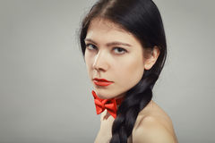 Girl with plait Stock Image