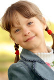 Girl with plaits Stock Image