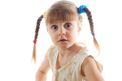 Girl with plaits Royalty Free Stock Images