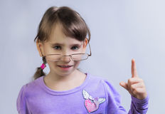 girl with plaits Royalty Free Stock Photo