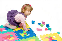 Girl play Royalty Free Stock Images