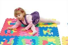 Girl play Royalty Free Stock Photo