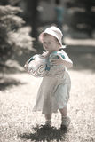 Girl are play the ball Stock Image