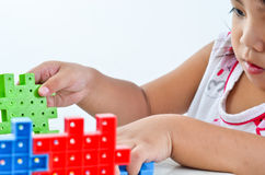 Kid play and creative. On white background Royalty Free Stock Image