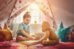 Girl play at home Royalty Free Stock Photography