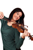 Girl play music on violin Royalty Free Stock Photos