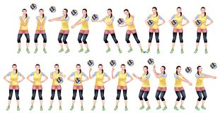 Volleyball player on a warm up royalty free illustration