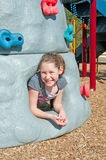Girl on playground Royalty Free Stock Image