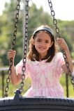 Girl in the Playground Stock Photography