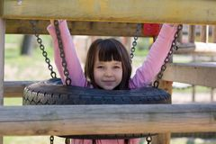 Girl in Playground Royalty Free Stock Photography
