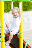 Girl at playground Royalty Free Stock Photography