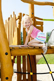 Girl at playground Stock Image
