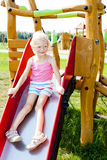 Girl at playground Royalty Free Stock Image